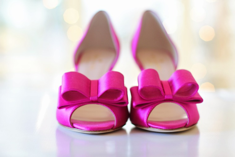Wedding Shoes Bows Pink Shoes Pink Bride Wedding